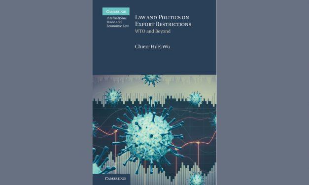 新書出版〉Law and Politics on Export Restrictions: WTO and Beyond